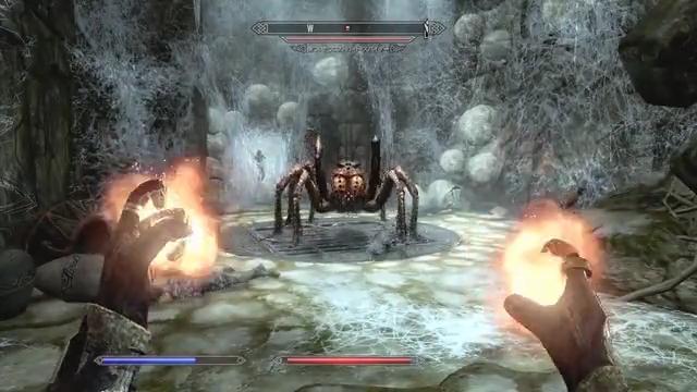 vs大蜘蛛。と、後ろでつかまってるアーヴェル